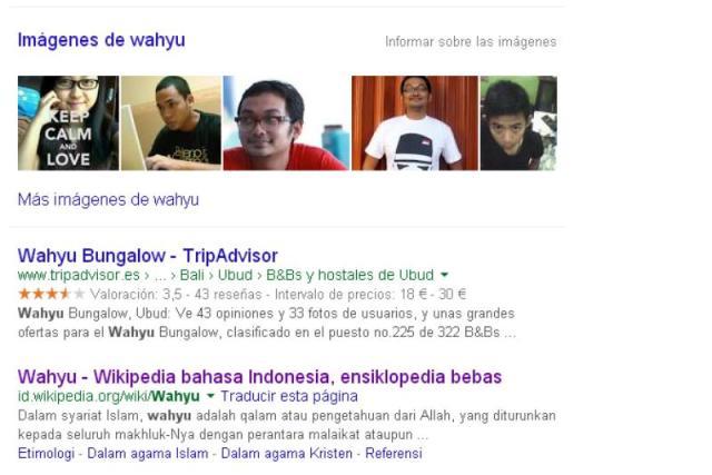 Busqueda de wahyu en internet